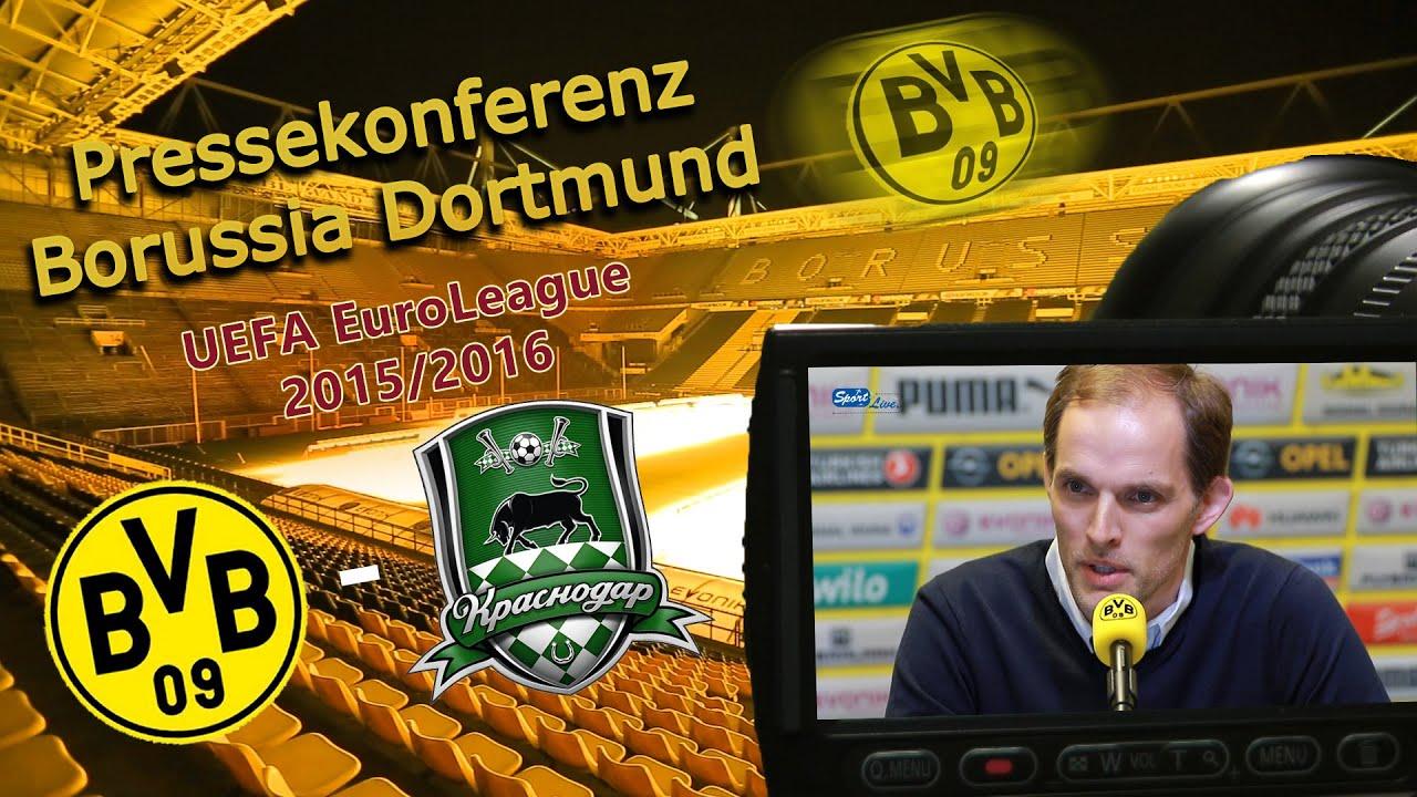 Borussia Dortmund - FK Krasnodar ; Pressekonferenz mit Thomas Tuchel