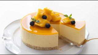 マンゴーレアチーズケーキの作り方 No-Bake Mango Cheesecake*No oven, No egg HidaMari Cooking