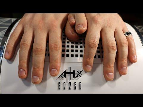 Мужской маникюр на одиннадцати пальцах