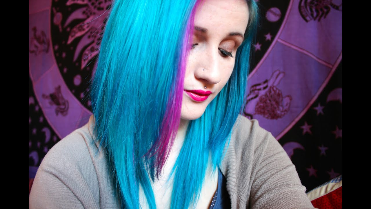 Re Dying My Hair Peacock Blue Amp Pink YouTube