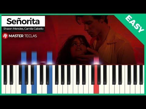 💎 Señorita - Shawn Mendes Camila Cabello EASY  Piano Tutorial 💎