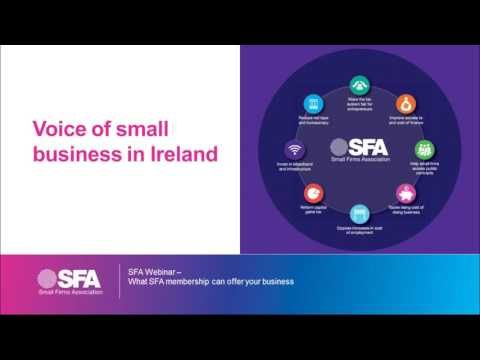 SFA Webinar - What SFA membership can offer your business