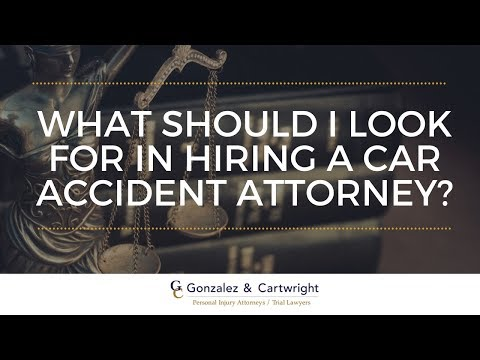 What Should I Look For In A Car Accident Attorney Lake Worth FL? | Gonzalez & Cartwright, P.A.
