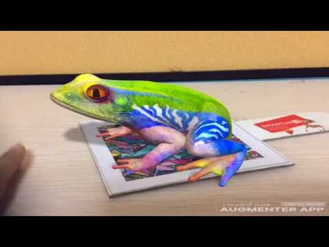 Frog Virtual Reality Demo Video Augmented Reality Demo