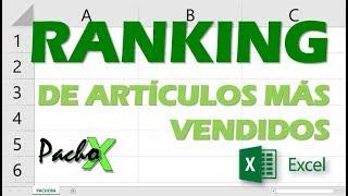 Crear un RANKING en Excel con los artículos más y menos vendidos
