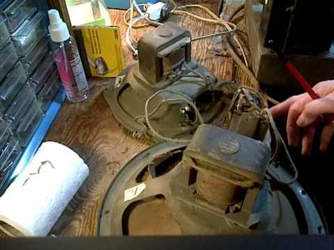 Philco 91A-221 Tube Radio Repair Video #5 Speakers