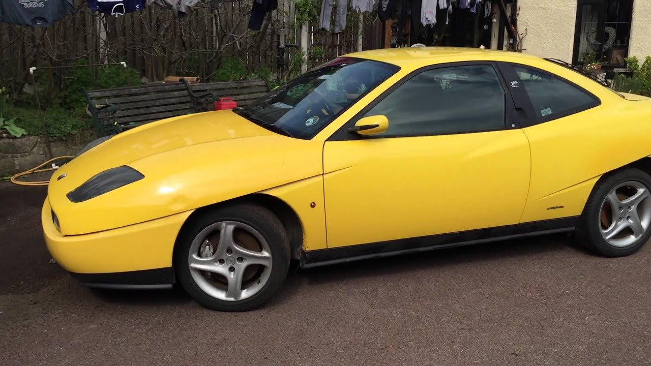fiat coupe 20v turbo yellow no tax or mot youtube. Black Bedroom Furniture Sets. Home Design Ideas
