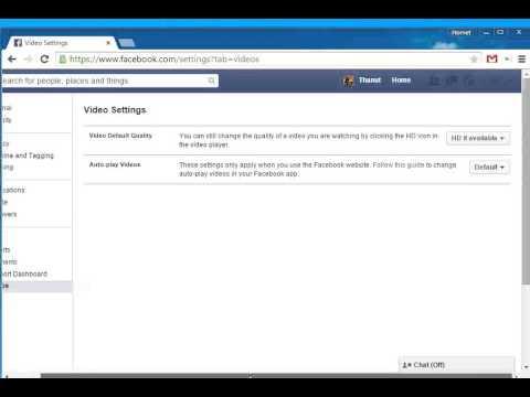 วิธีแก้ วิดีโอ เล่นเอง Facebook ( Disable Video Facebook Autoplay )