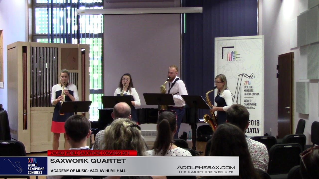 Lachian Dances 6 & 5 by Leos Janacek    Saxwork Quartet   XVIII World Sax Congress 2018 #adolphesax