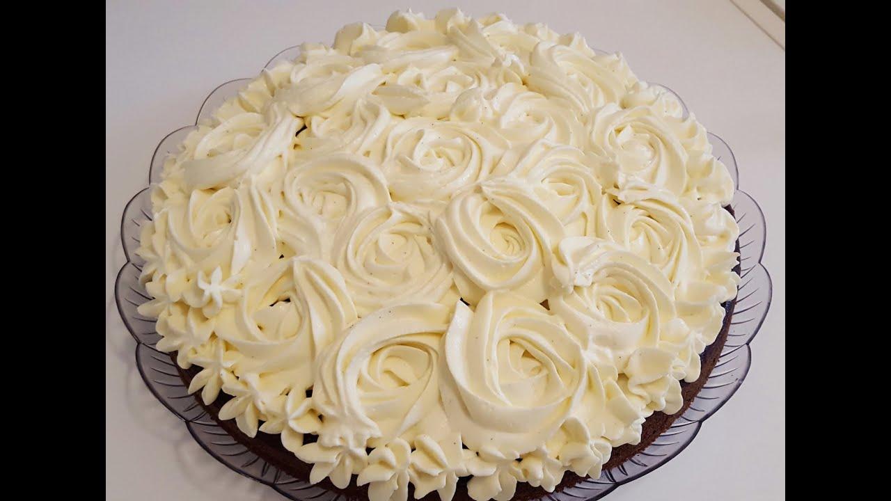La mia crema pasticcera decorazione rose con diplomatica for Decorazione torte con wafer