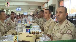 المتحدث العسكرى يعرض فيديو مشاركة وزير الدفاع مع طلبة كلية ضباط الاحتياط مظاهر الاحتفال بشهر رمضان
