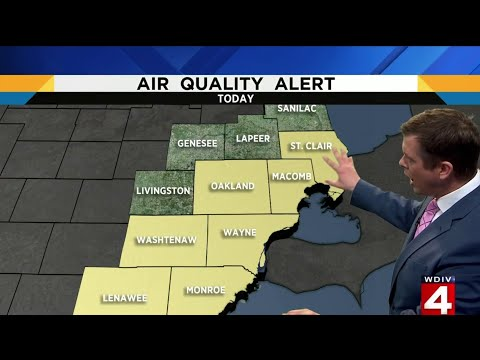 Metro Detroit weather: Air quality alert on July 3, 2019