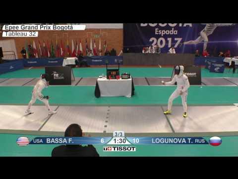 FE F E Individual Bogota COL Grand Prix 2017 T32 05 green BASSA USA vs LOGUNOVA RUS