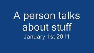 A person talking about stuff