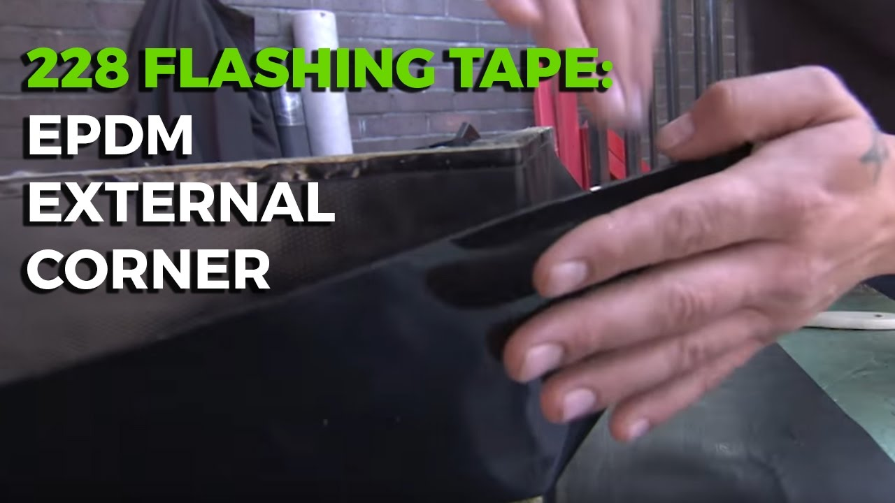 Waterproofing an External Corner with 228 Flashing Tape from ClassicBond