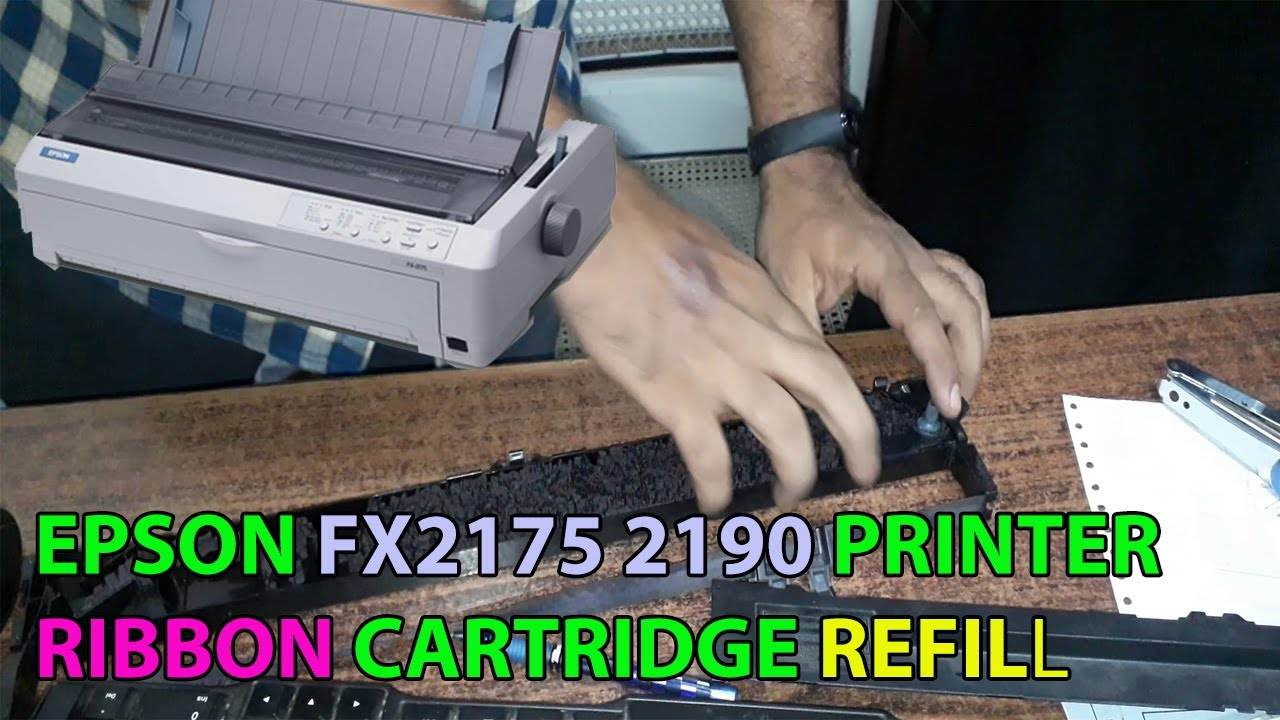 EPSON FX2175 2190 DOT MATRIX RIBBON CARTRIDGE REFILL