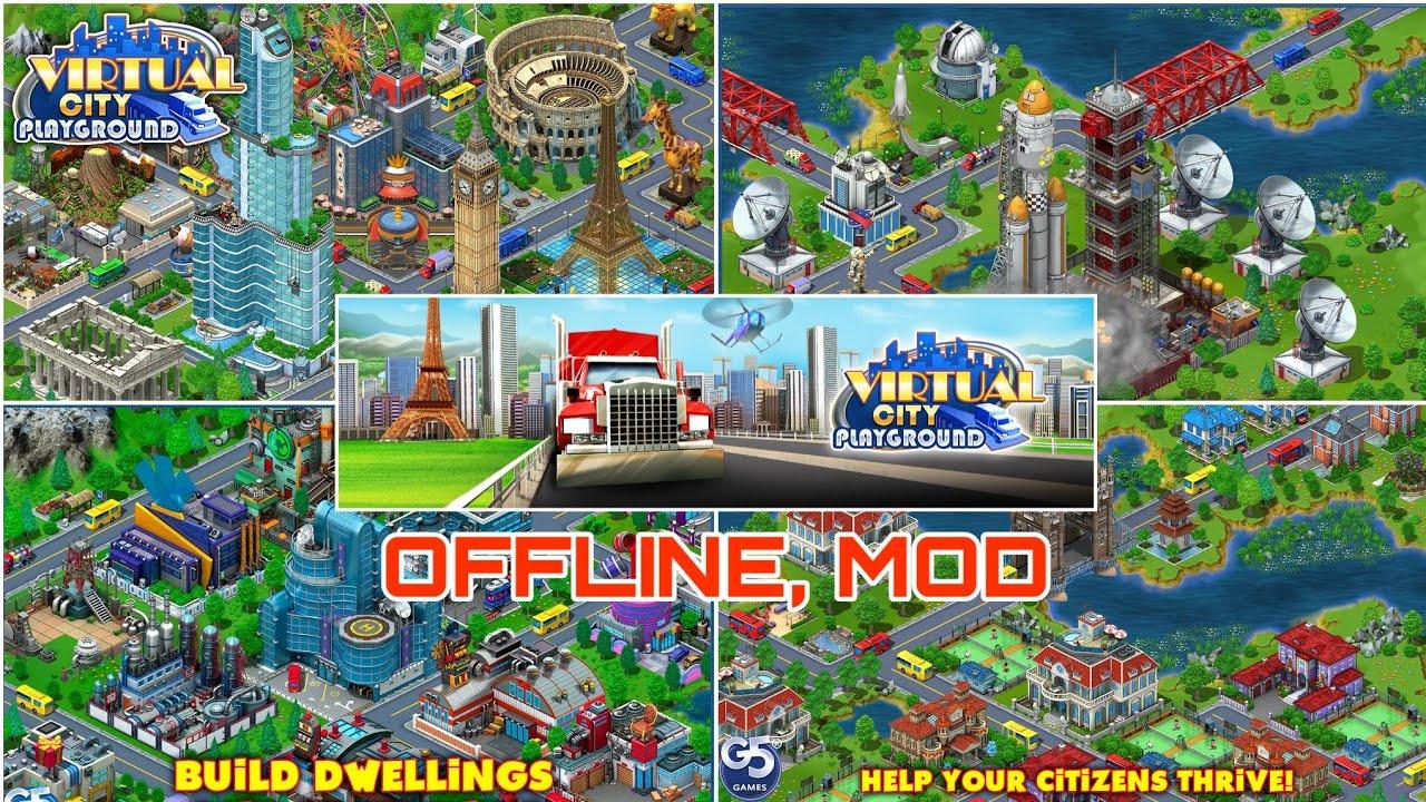 Game xây dựng thành phố OFFLINE hay nhất trên mobile - Android | Virtual City Playground mod