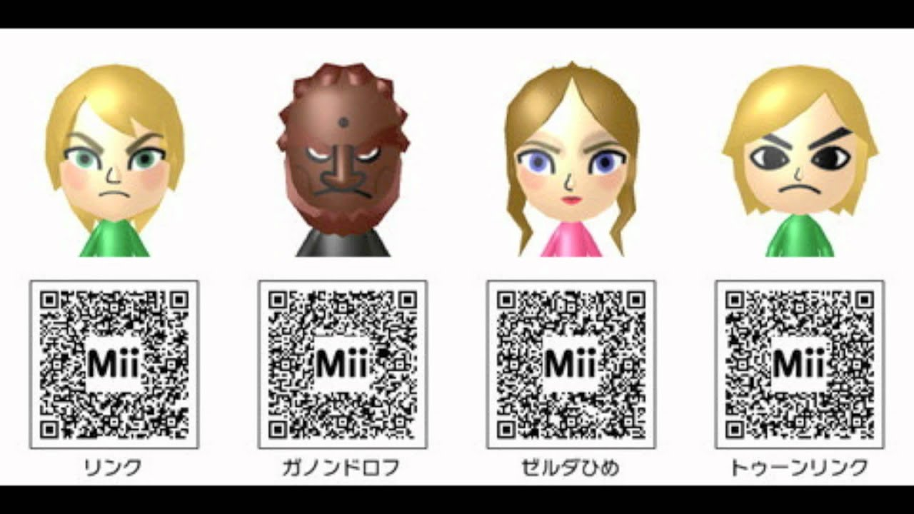 Anime Mii Characters 3ds : Nintendo ds mii qr codes pack doovi