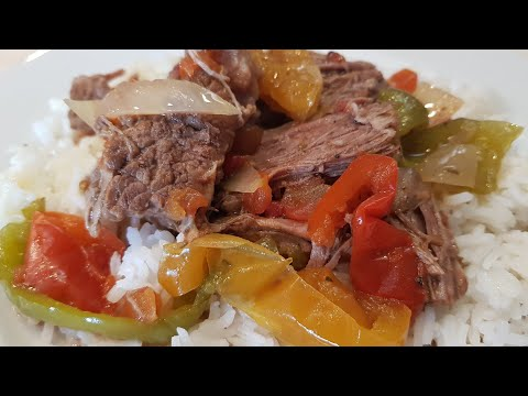 Cuban Ropa Vieja Cooked in a Crock-Pot