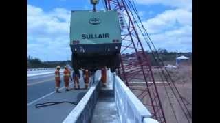 2ª  movimentação de carga sobre a ponte rio jacuípe