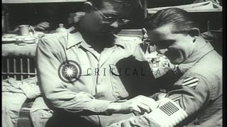 US General Patch, US Admiral Hewitt, and French Admiral Lemonnier lead the Allied...HD Stock Footage