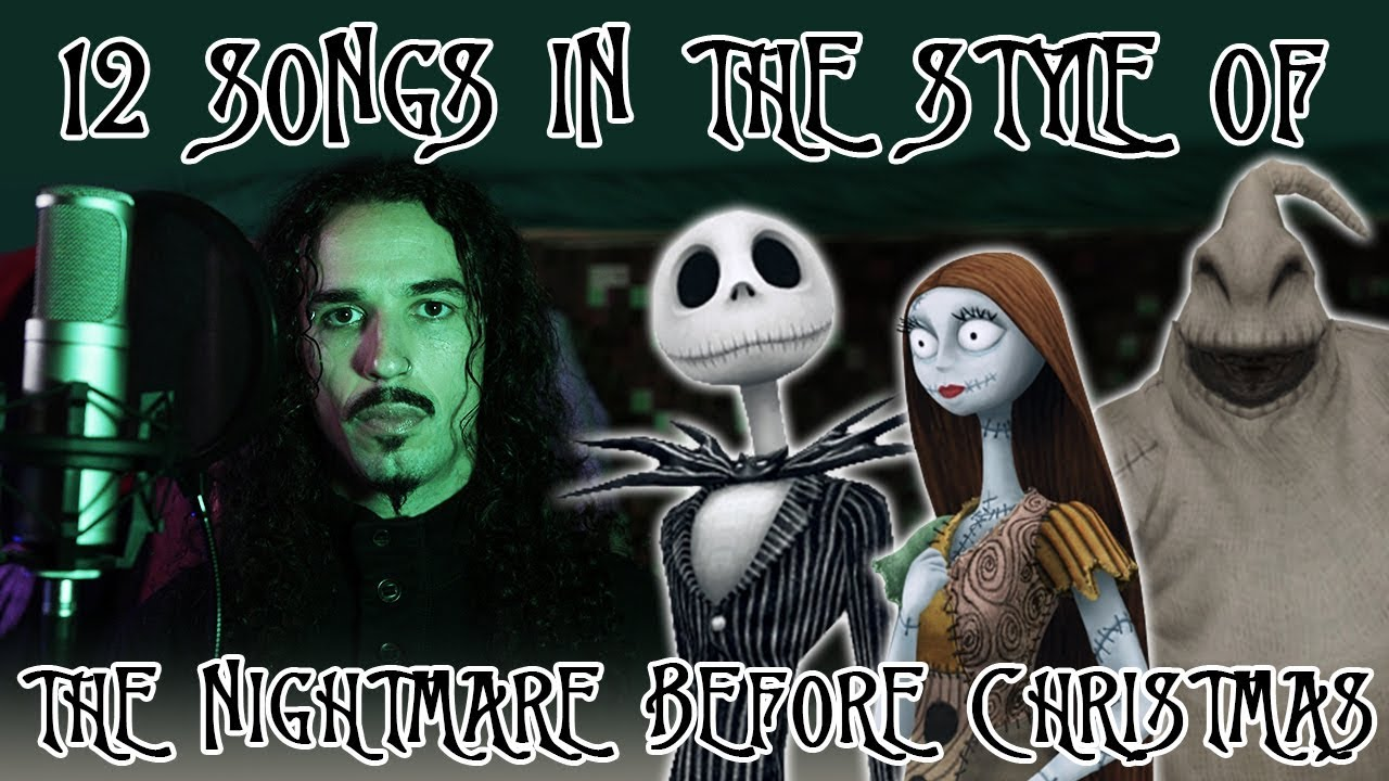 12 Songs in the Style of The Nightmare Before Christmas - YouTube