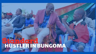 DP Ruto invites disabled man to sit next to him before having lengthy conversation in Bungoma