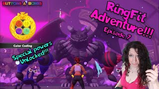 Ring Fit Adventure !!! Episode 7 - Unlocking Our First Special Power!!! Color Coding!