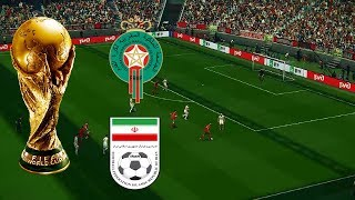 Morocco vs Iran full match gameplay live broadcast camera HD60fps