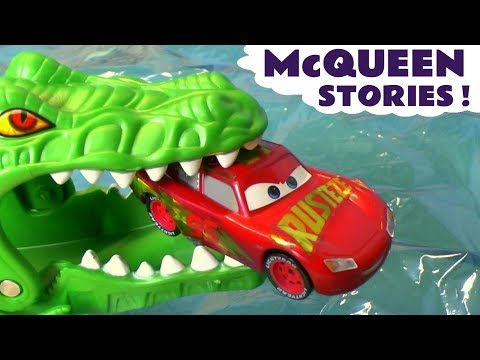 Disney Cars Toys Cars 3 McQueen Stories - Gator Escape and Hot Wheels Superheroes for kids TT4U