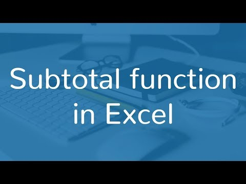 How To Use SUBTOTAL Function In Excel | Hindi
