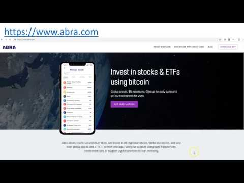 Buy Bitcoin Using Credit Or Debit Card With ABRA Site