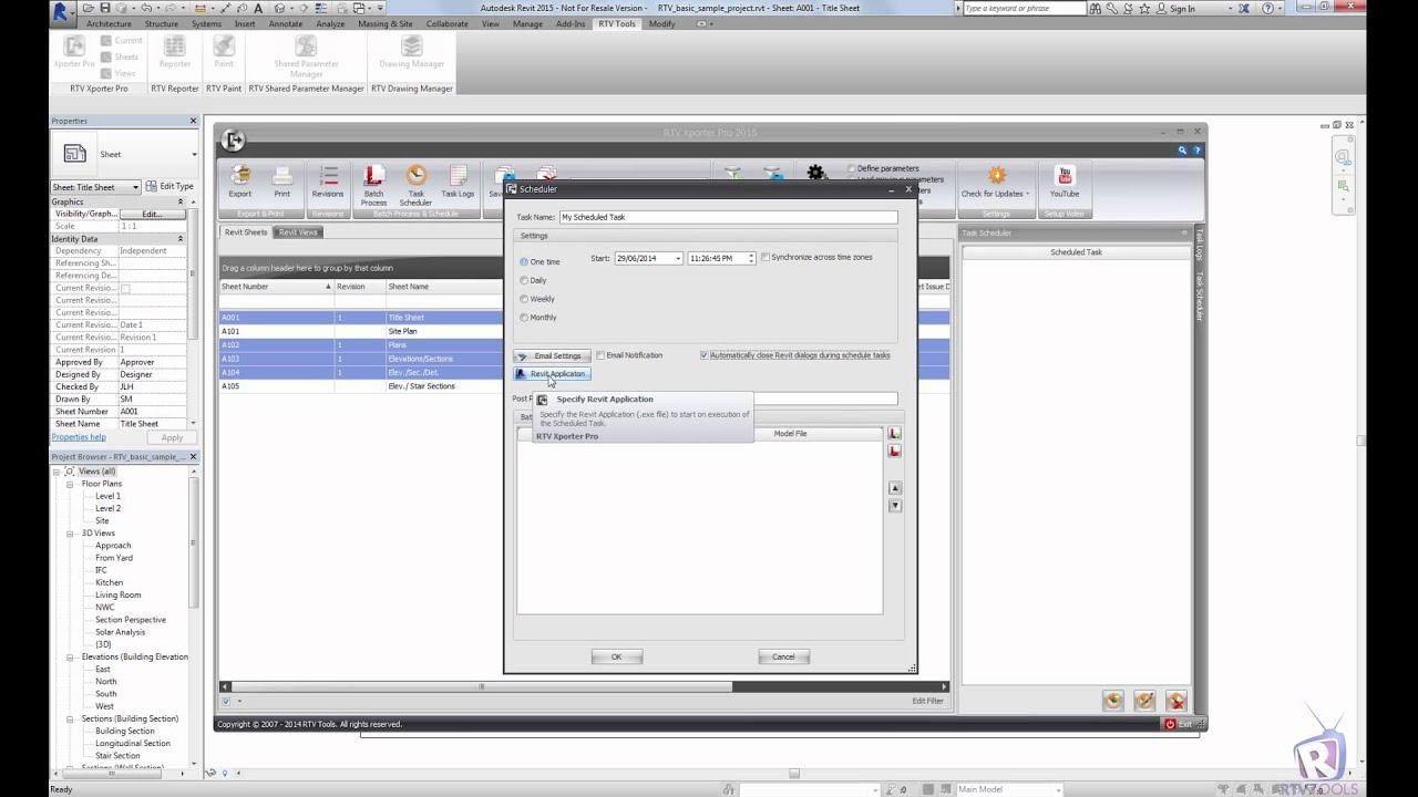 RTV Tools | RTV Xporter PRO | Autodesk Revit