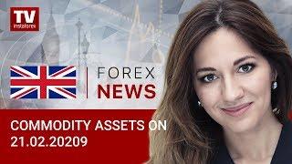 InstaForex tv news: 21.02.2020: Oil slips lower; RUB loses ground against USD (Brent, USD/RUB)