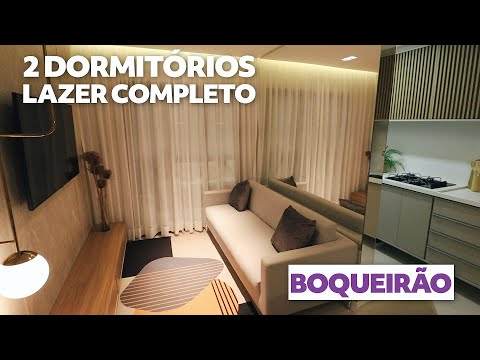 Apartamento de 2 dormitórios no Boqueirão com Lazer Completo