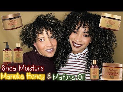 Shea Moisture Manuka Honey & Mafura Oil Review/Tutorial | Entire Line!