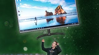 The BIGGEST Monitor We've EVER Seen