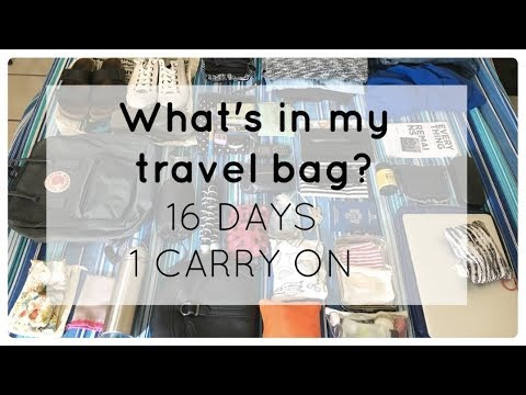 What's in my travel bag? 16 days of travel edition! | Minimalist packing