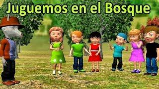 Juguemos en el bosque (canciones y rondas infantiles) - Videos Educativos para Niños # thumbnail