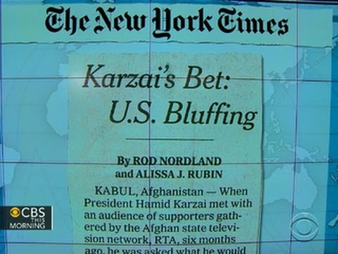 Headlines: Afghan president demands release of Guantanamo Bay prisoners