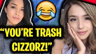 CARRIED BY POKIMANE & VALKYRAE IN FORTNITE!!!! (Cizzorz Pokimane Valkyrae Fortnite Squads Gameplay)