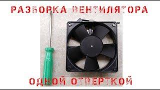 Разборка вентилятора одной отверткой Бесколлекторный электродвигатель постоянного тока