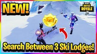 "*NEW* ""Search Between Three Ski Lodges"" Fortnite Season 7 Week 3 Challenge Guide"