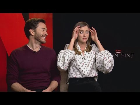 IRON FIST: Jessica Stroup shows off weird talents and Tom Pelphrey hits back at critics