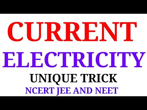 current electricity physics for jee and neet