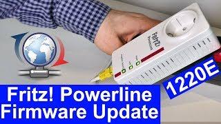 Fritz!Powerline 1220E Adapter auf neue Fritz!OS Firmware aktualisieren