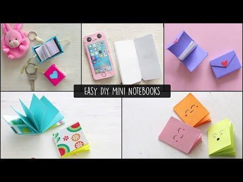 Mini Notebooks diy | Miniature notebooks