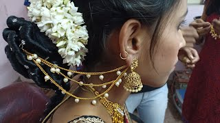 New makeup look//online beauty course//makeup hairstyle n saree sikho//