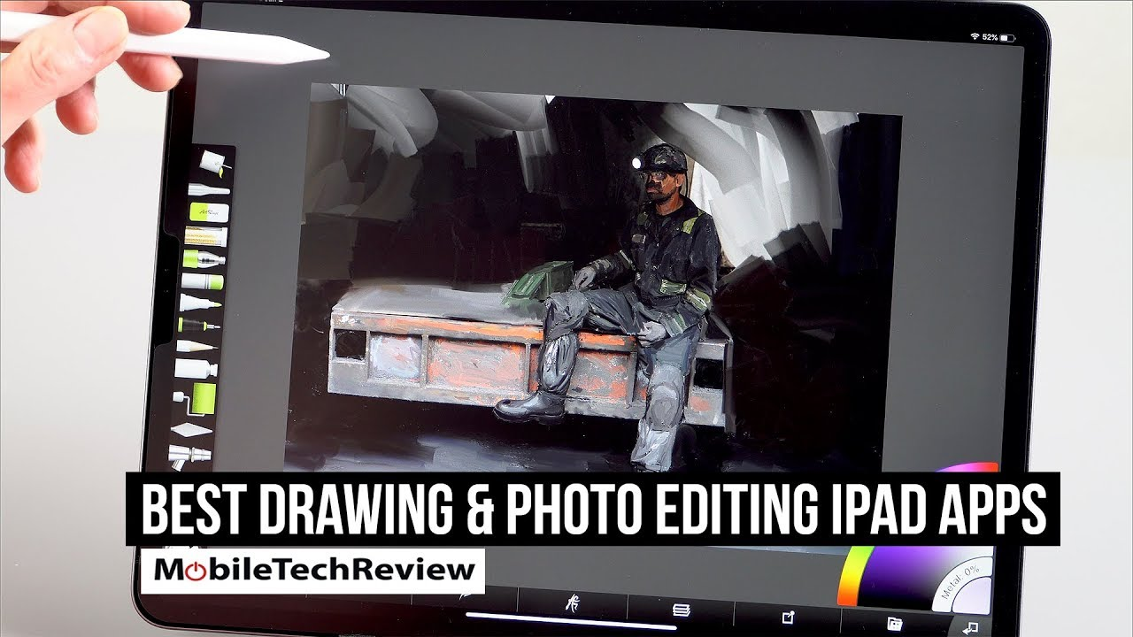 Best Drawing Painting And Photo Editing Apps For Ipad Youtube