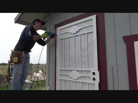 how to install a security screen door part 8